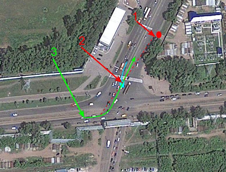Перекресток Трамвайной и Уфимского шоссе