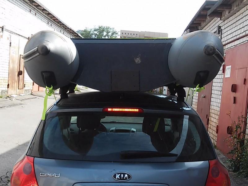 Багажник на крышу автомобиля для лодки своими руками