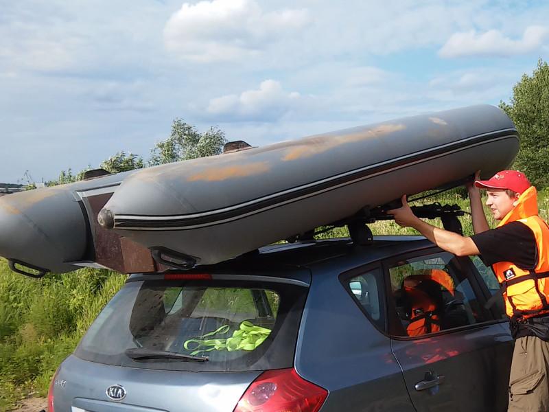 багажник на крышу для лодок