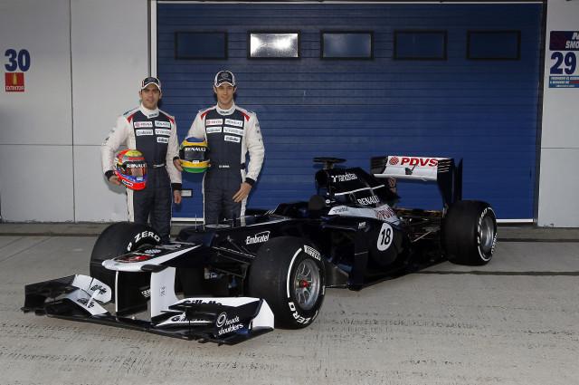 Первые фотографии с презентации Williams FW34 в Хересе