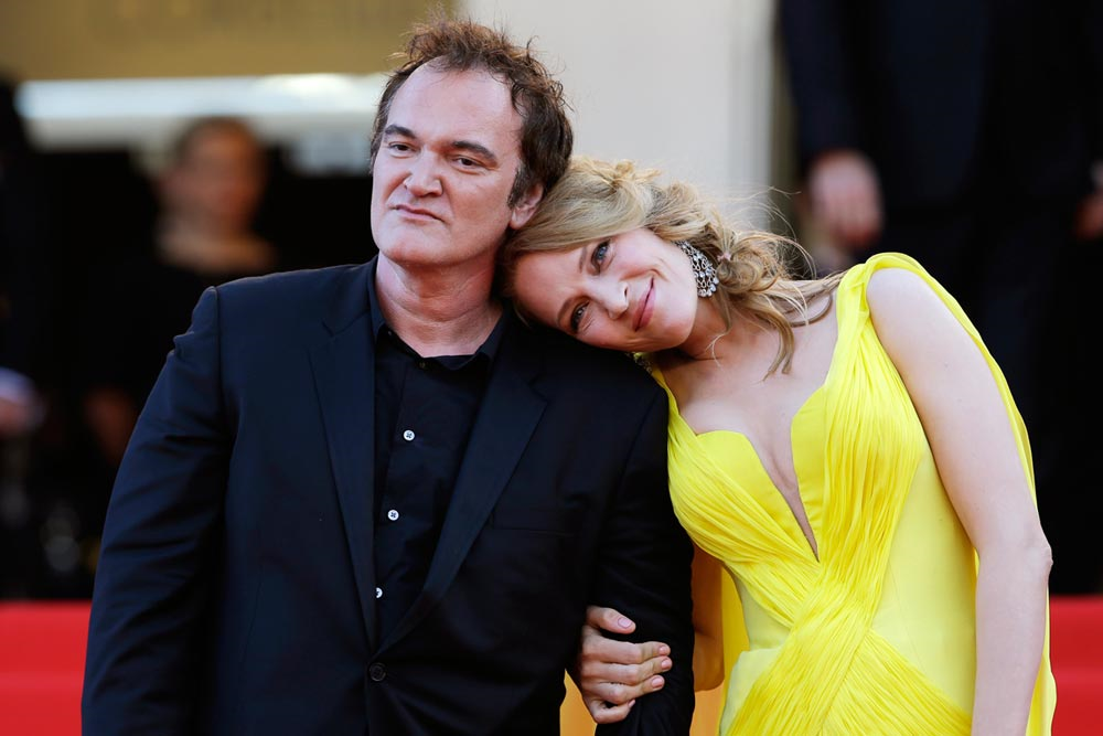 Uma Turman and Tarantino