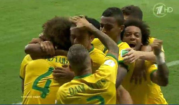 Бразилия забила