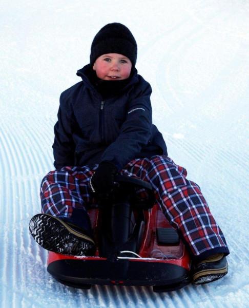 Kronprinsparret på vinterferie med børnene-5