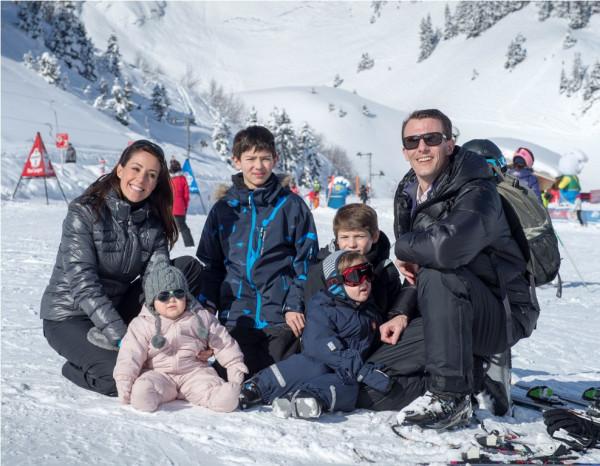 D.K.H. Prins Joachim og Prinsesse Marie på vinterferie med børnene-2