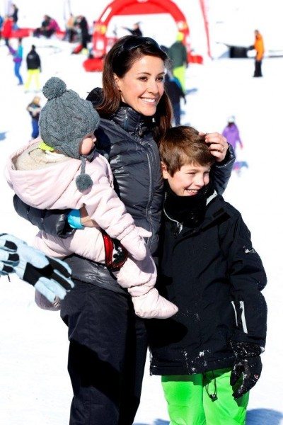 D.K.H. Prins Joachim og Prinsesse Marie på vinterferie med børnene-5