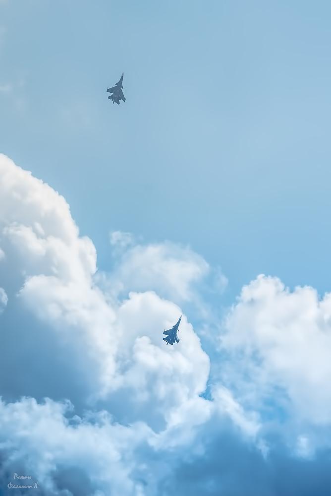 Имитация воздушного боя на Су-30СМ