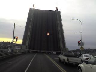 ballard bridge going up