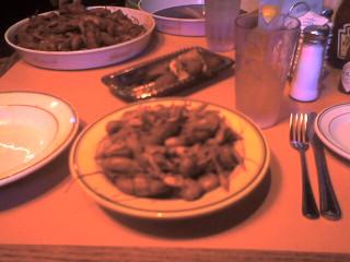 dinner, crawfish