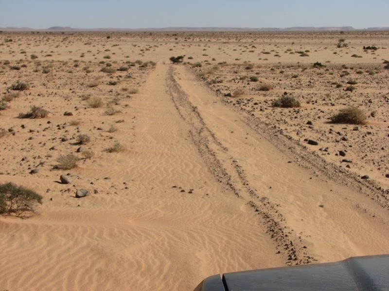 sand piste, Western Sahara
