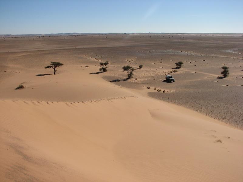 дюны около деревни Лебуйрат