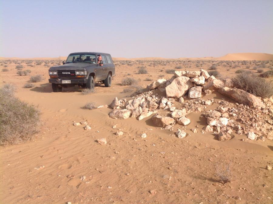 Paris Dakar balise in Western Sahara