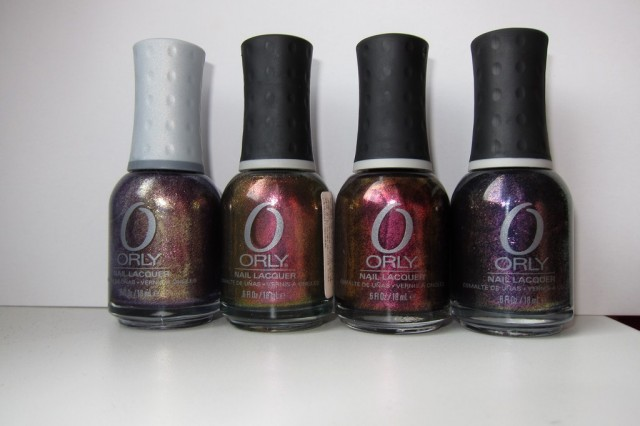 orly oui, space cadet, rococo, out of this world
