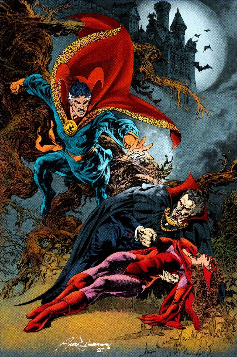 Однажды Стрэндж присоединился к команде охотников на вампиров и помог им в борьбе против самого Дракулы