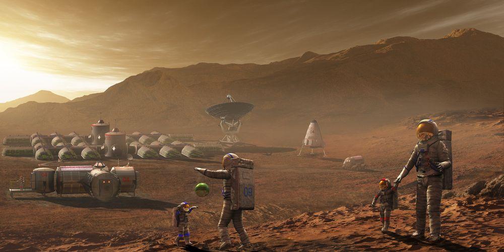 Первый человек на Марсе может родиться в следующем веке