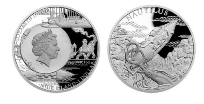 Фантастический мир Жюля Верна на монетах Чехии