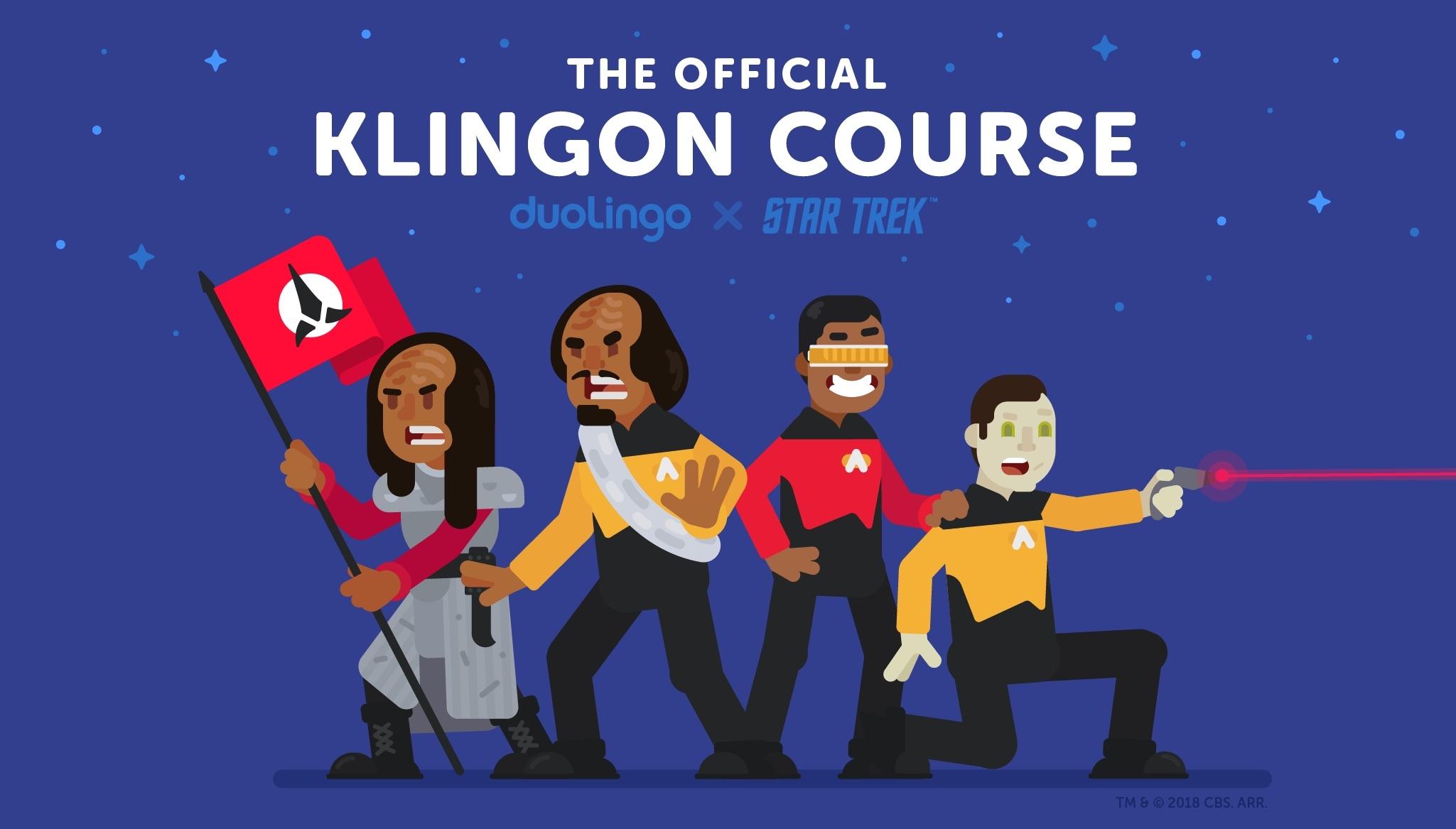 Онлайн-сервис Duolingo запустил курс изучения клингонского языка из сериала Star Trek