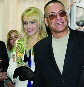 Жан-Клод Ван Дамм с украинской подругой