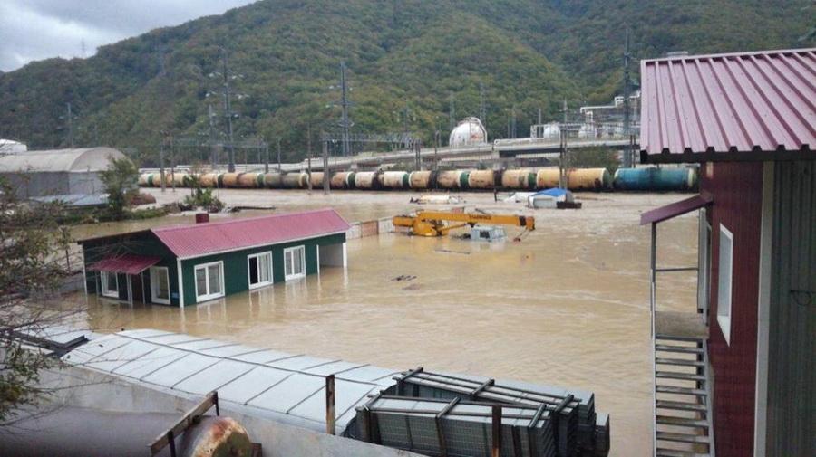 Туапсе стихия потоп наводнение