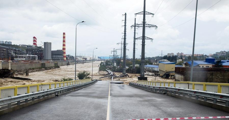 Туапсе происшествие разрушен мост стихия