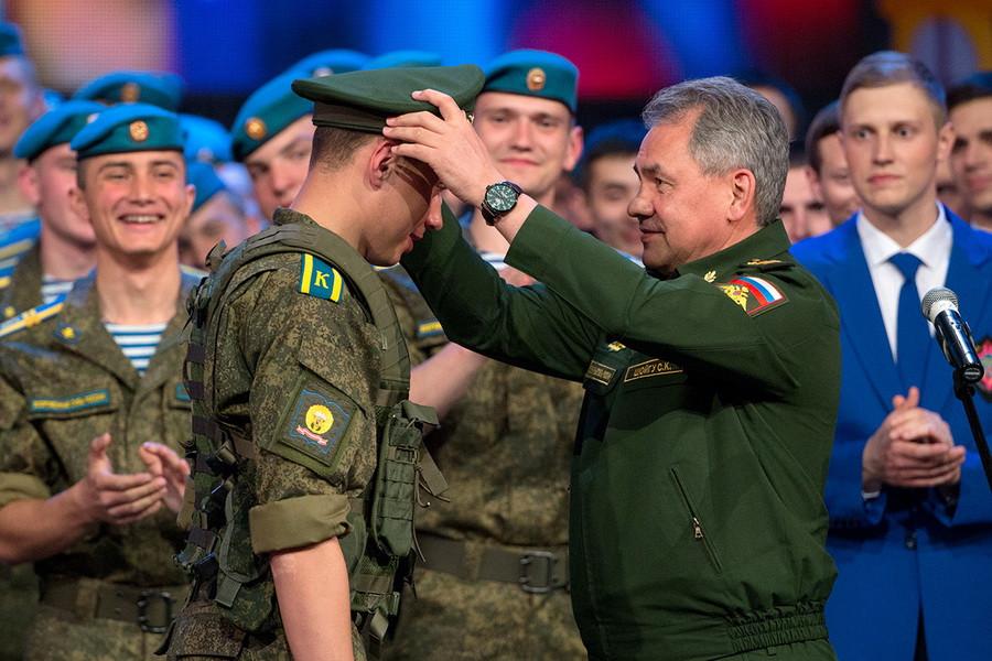 Рязанское десантное курсанты погоны