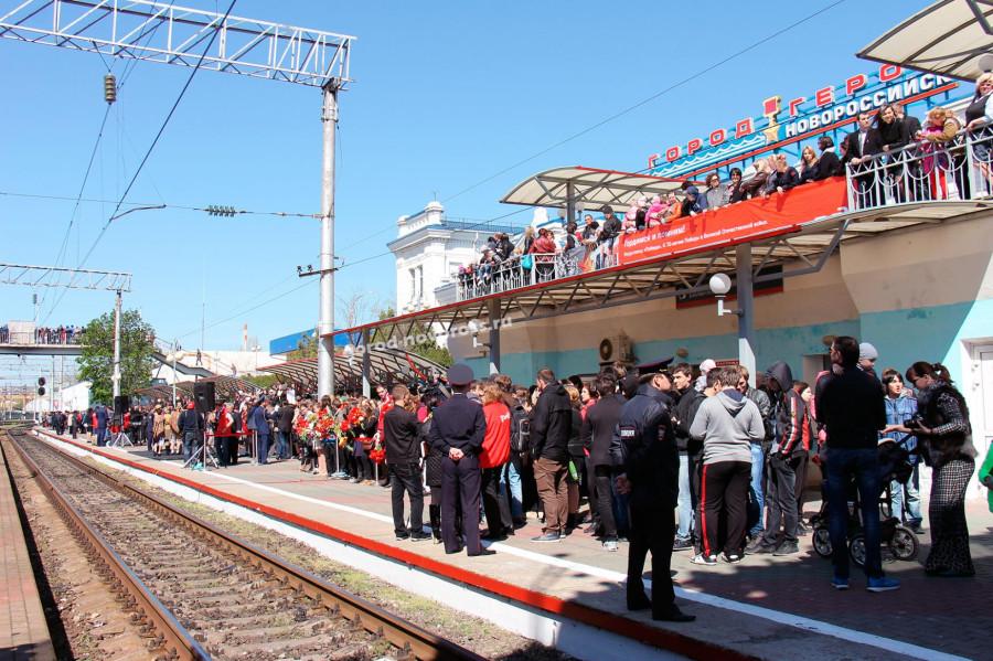 Ретро-поезд Победа Новороссийск вокзал