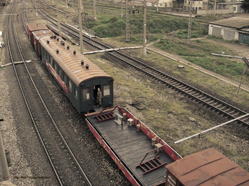 Вид сверху поезд Победа