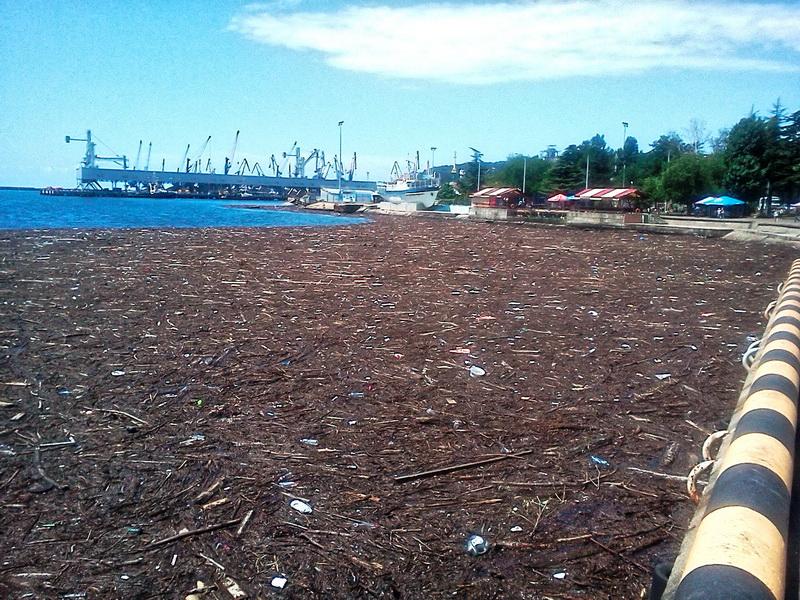 Туапсе акватория порта после наводнения Сочи