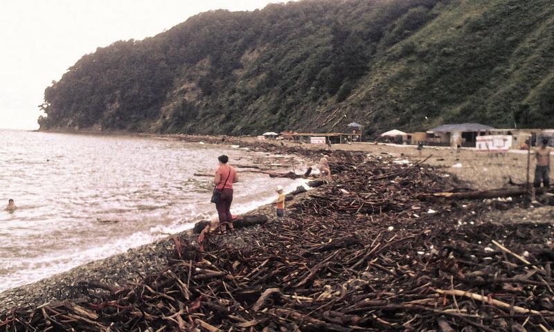 Туапсе дикий пляж после шторма