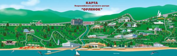 Туапсе карта Орлёнок