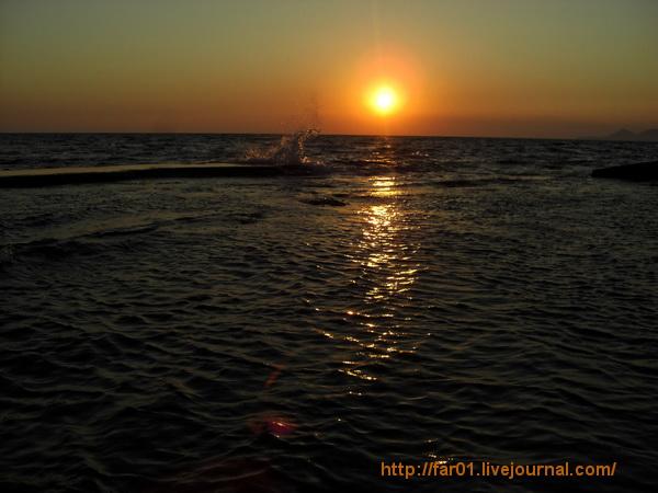 Туапсе закат море