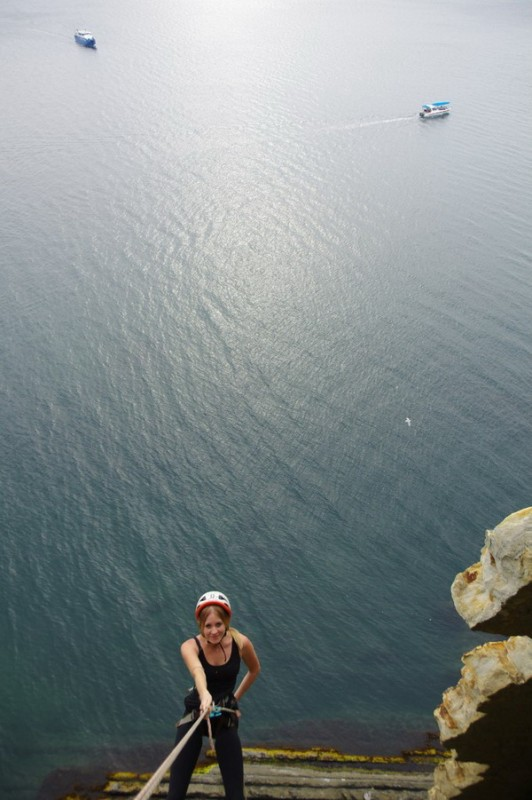 Дюльфер со скалы Киселева