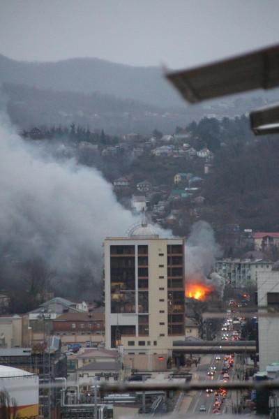 Туапсе пожар гостиница