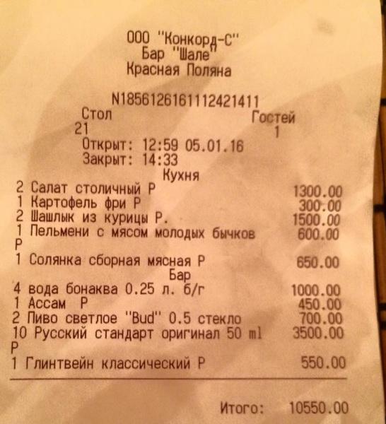 чек Красная Поляна Сочи Шале информационные войны