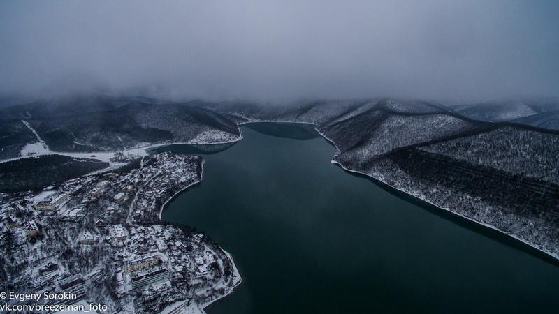 Зимние виды Абрау-Дюрсо