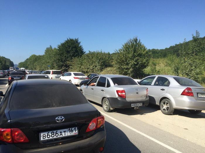 Туапсе Джубга Дефаовка ремонт дорог пробка
