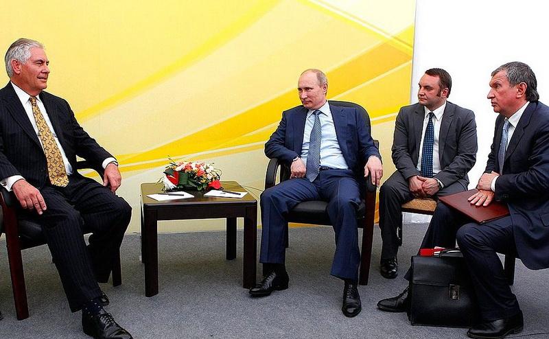 Путин Тиллерсон Туапсе Роснефть