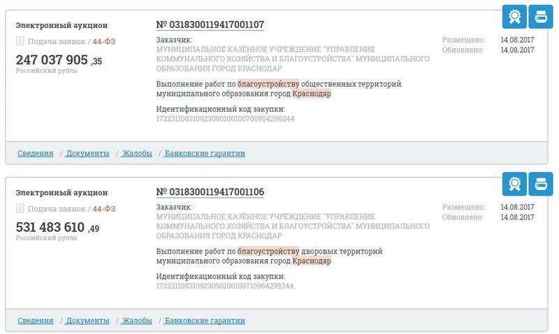 Краснодар благоустройство территорий ОНФ За честные закупки