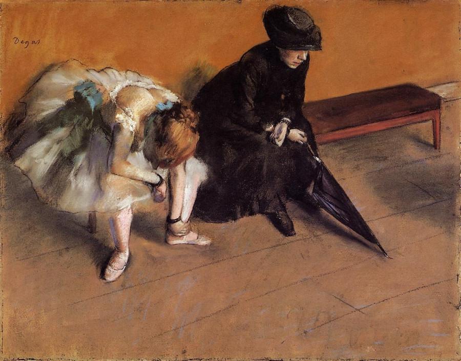 Edgar Degas (1834-1917) Waiting, 1882.