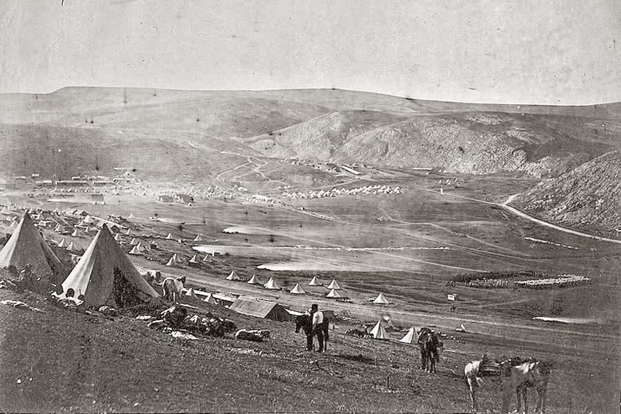 Балаклава, Крым. Лагерь английской кавалерии.