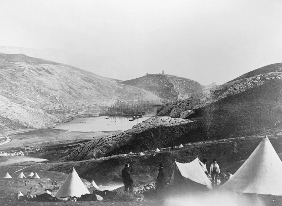 Лагерь британской пехоты в Балаклаве