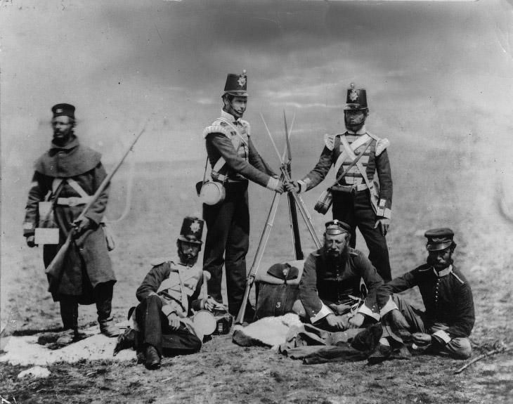 Лидеры стран НАТО и их помощники-адъютанты, 1855 год