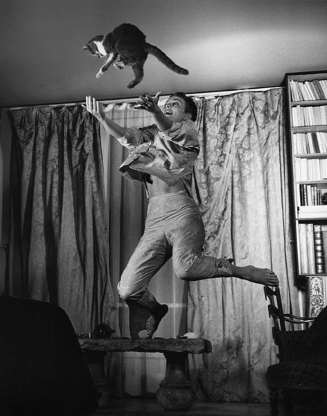 Philippe Halsman (1906-1979) Jean Seberg with Cat, 1959.
