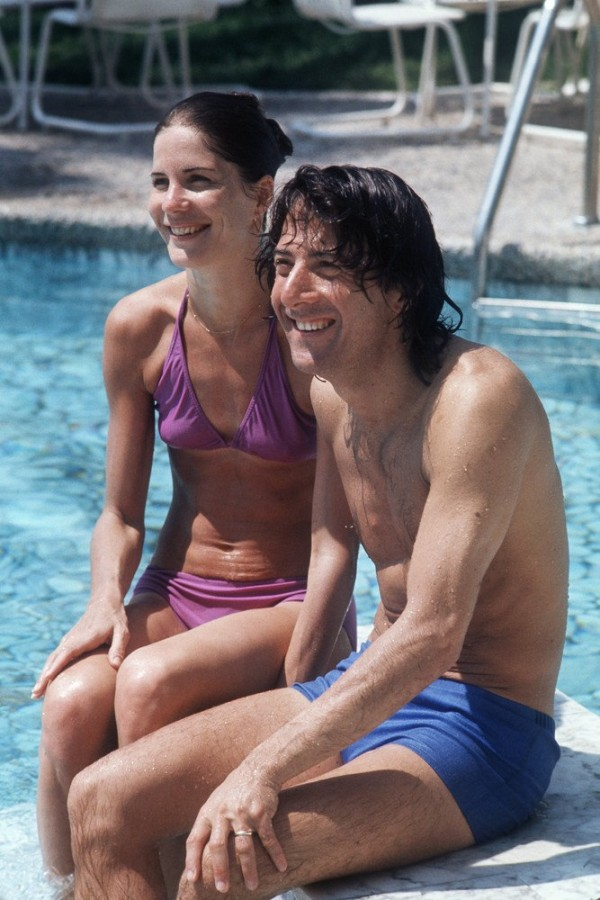 Dustin Hoffman and Anne Byrne, 1975
