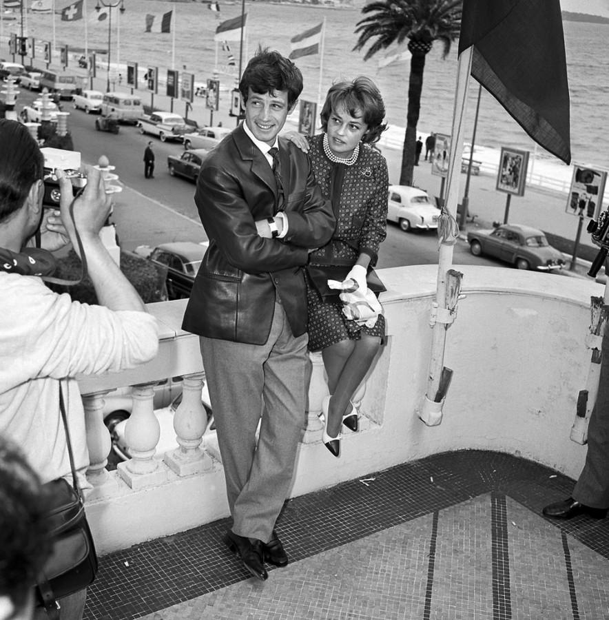 Jean-Paul Belmondo and Jeanne Moreau, 1960