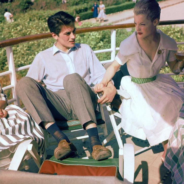 Romy Schneider and Alain Delon, 1959