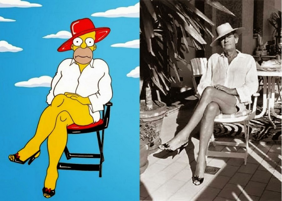 The-Simpsons-Meets-Helmut-Newton by Alice Springs Montecarlo Monaco 1987b