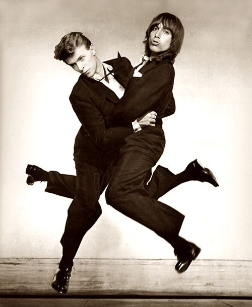 David Bowie and Iggy Pop in the late 1970s