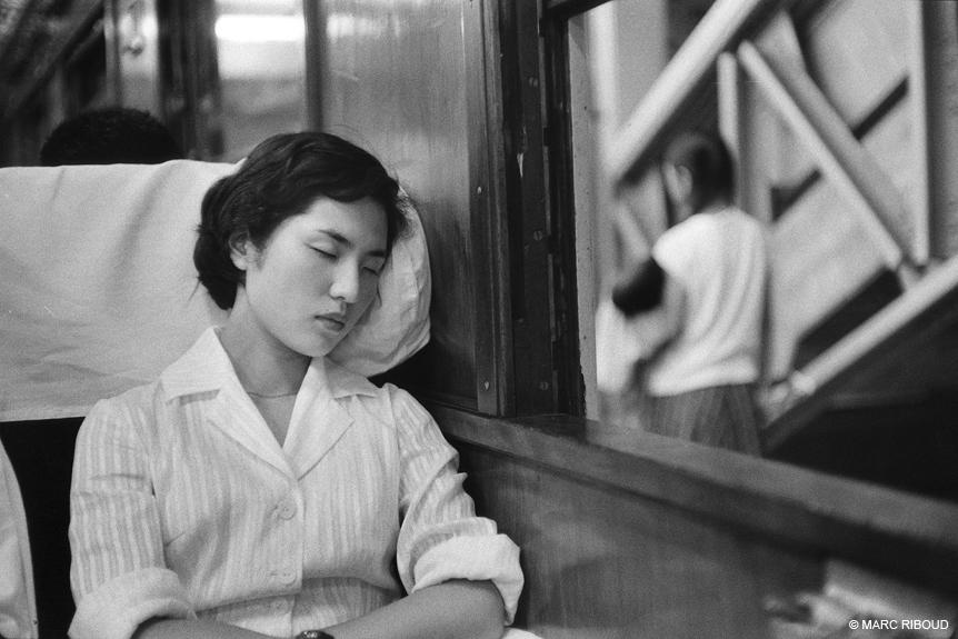 Japan, 1958. In a train.