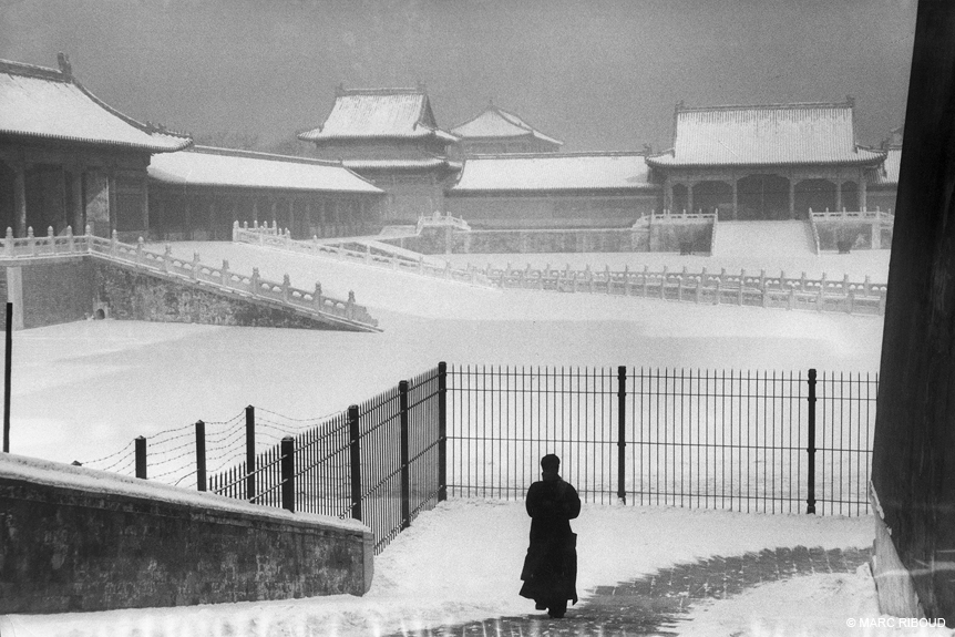 The Forbidden City under the snow, Beijing, 1957