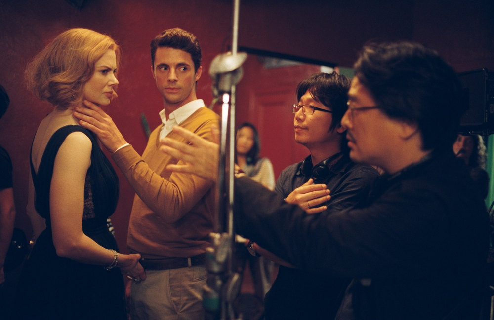 Park Chan-wook while filming Stoker